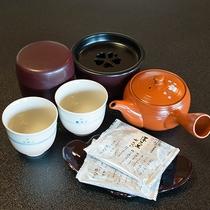 """*和室のお茶セット/""""ホッ""""と和ます、安らぎに満ちたお時間をお過ごし下さい"""