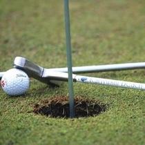 【パターゴルフ】敷地内にあるパターゴルフ場