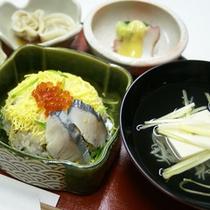【夕食一例】季節の食材を使った家庭食をご賞味下さい