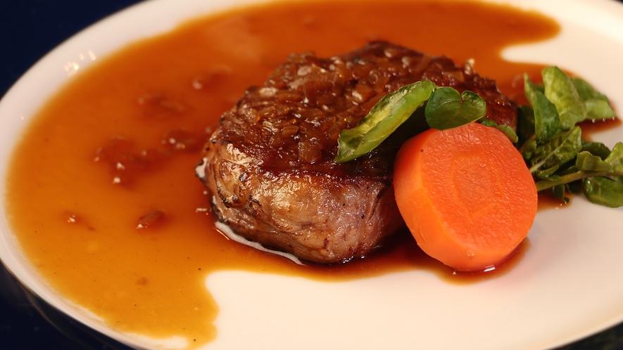 岡山和牛のステーキ