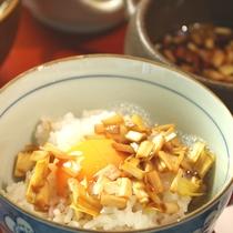 ☆朝食 やなはら名物《黄ニラの卵かけご飯》