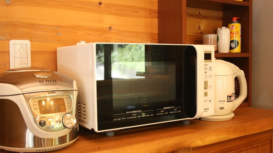 キッチンスペースではご自由に使用して頂けます。