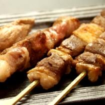 ☆《竹会席》京鴨肉の串焼き4種盛