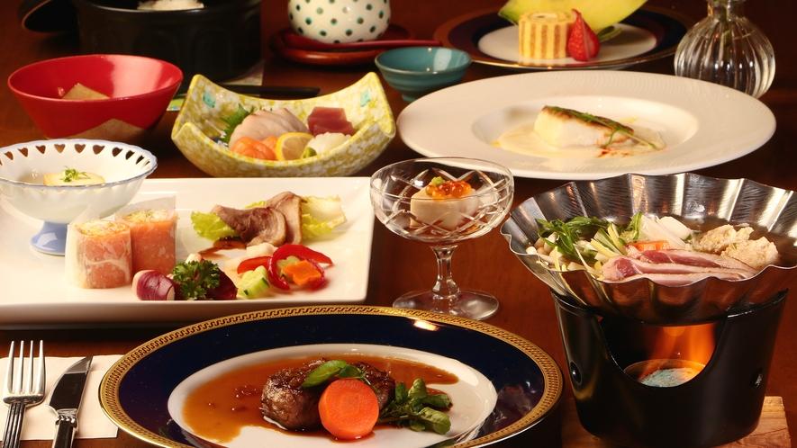 和食と洋食を織り交ぜた贅沢な福会席