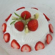 ワンちゃんお誕生日ケーキ一例:飾りのフルーツは季節によって変わります