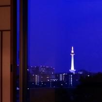 客室から京都タワー