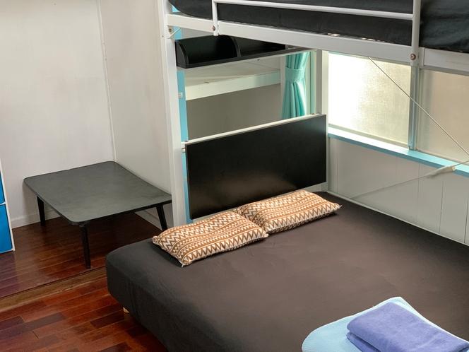 二段ベッドツインベッドのお部屋一例。