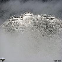 白銀の竹田城跡