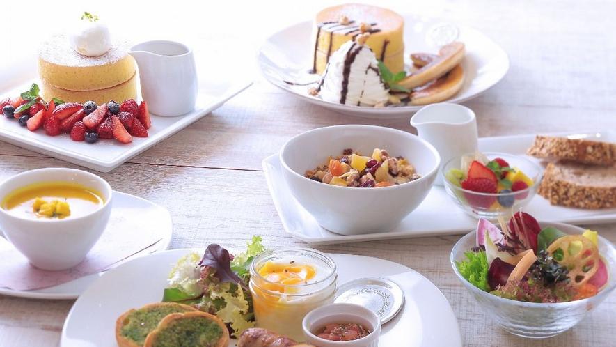 ■6種類から選べるセットメニュー朝食!>>