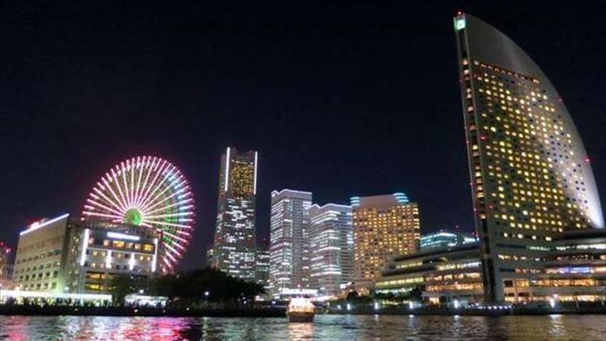 みなとみらいの夜景は、何度見ても飽きないですね。魅力が尽きない街