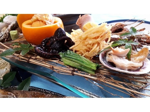 【あわび&海鮮】 アワビの選べる調理方法♪お造り♪お造り♪または踊り焼き?[1泊2食付]