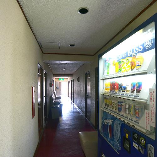 館内には自動販売機を完備しています