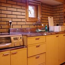 キッチン完備で自炊やBBQの下準備も楽々です♪