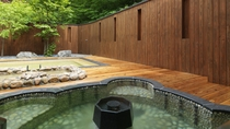 ◆湯処[命泉の湯]露天風呂(一例)/ニセコの森と湯の香りを満喫しながら、至福の湯浴みをお愉しみくださ