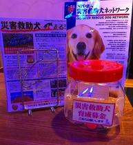 災害救助犬ネットワークへ送金を行っております。