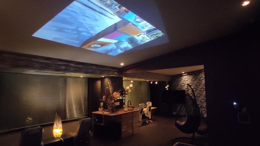 エグゼクティブ スマートシアタースイートルーム天井スクリーン