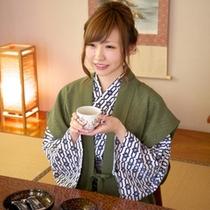 【お部屋】過ごし方一例 チェックイン後はお茶で一服
