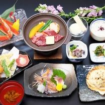 【夕食】竹の膳一例【H29年12月~H30年3月】大沼牛など地元の素材も贅沢に味わえる竹の膳