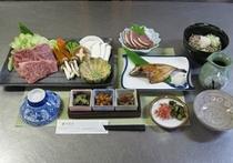 飛騨牛付プラン夕食例