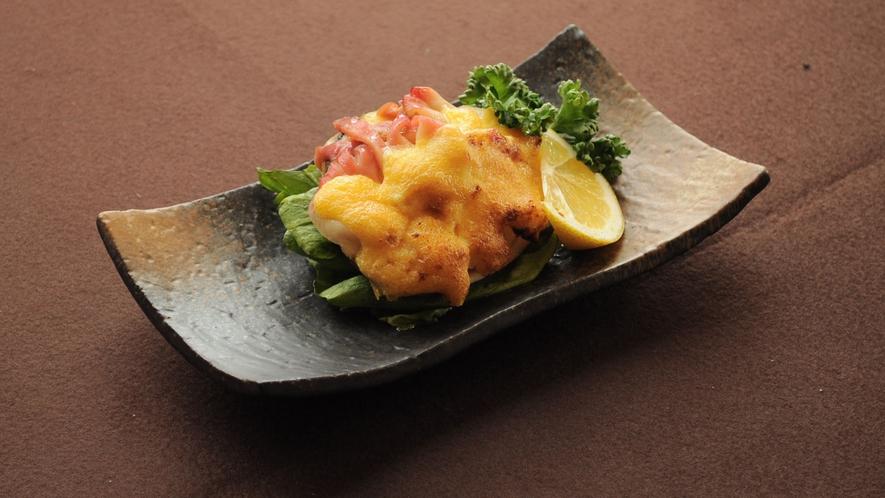 【特選夕食の一例】北寄貝の黄金焼