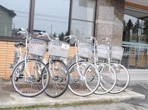 【有料貸し自転車】電動自転車もございます。