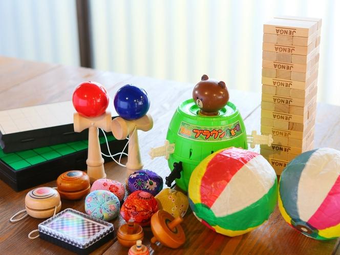 お子様向けのおもちゃ、懐かしいおもちゃ無料貸出し