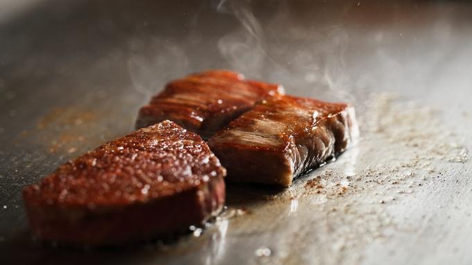 【品数少なめのカジュアルコース】キトキト盛り(お造り)と飛騨牛ステーキ(100g)堪能《2食付き》