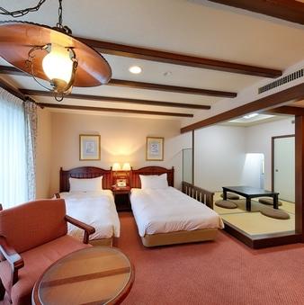 【和洋室 2ベッド+和室4.5畳】喫煙可/約40平米