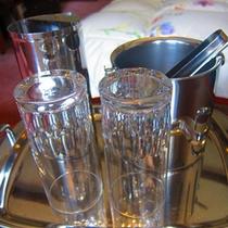 客室備品 アイスペールとグラスのセット