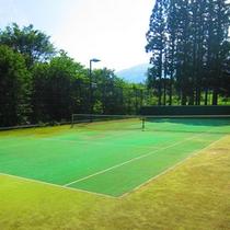 オムニコートのテニスコート(春〜秋)