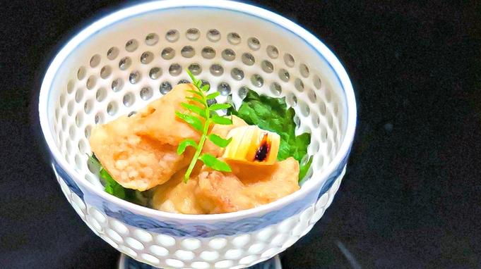 【鯛づくし会席】愛媛県産の鯛を贅沢に用いた会席をお部屋食にて仲居が1品ずつご提供【しこくるり】