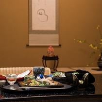 *【ご夕食一例】歳時記に習った愛媛の海の幸・大地の恵み溢れる季節の会席料理をお部屋食にてご提します