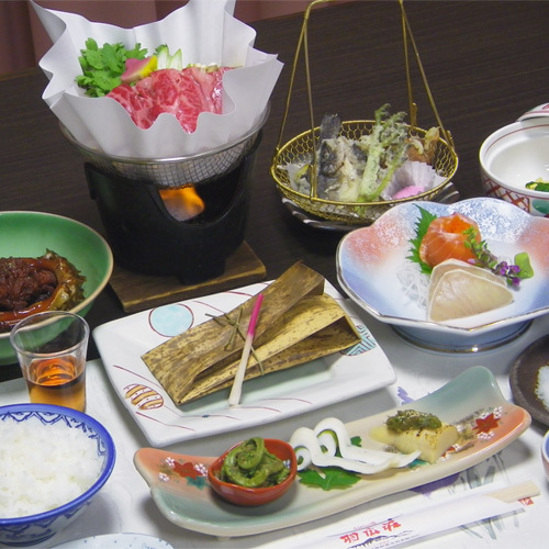*【お夕食一例】お米はコンクールでも金賞に輝いた、長野県産コシヒカリを使用!