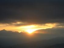 南アルプスからの日の出