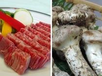 信州牛と松茸のコラボ