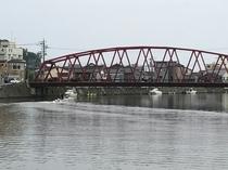 輪島川といろは橋 渡ると朝市