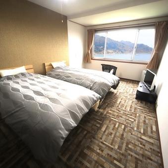 【ツインルーム】◇最上階洋室ベッドルーム28平米◇【禁煙】