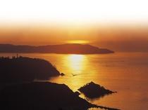 コバルトラインから見た夕日