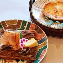 4月~7月*蟹甲羅グラタンと季節の魚味噌漬け<おふたり様会席>