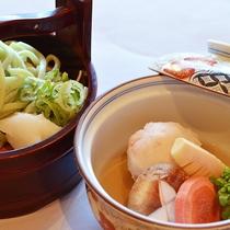4月~7月*恵みいっぱい!季節野菜の煮物とうどん<おふたり様会席>