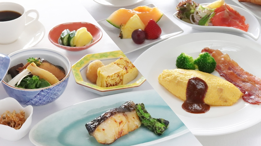 ご朝食の提供スタイルは状況により変更する場合がございます。(イメージ)