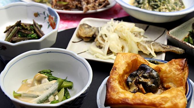 【365日同一料金】山の幸満載!俺が採れたて山菜食わせてやるべぇ〜◆1泊2食◆ふくしまプライド。
