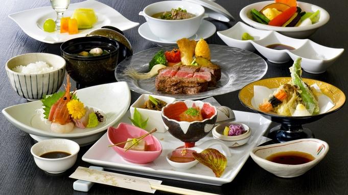 【米沢牛】米沢牛ステーキ☆ワンランク上の米沢牛コースで贅沢に楽しむ♪<当館一押し>