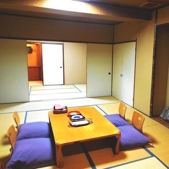 【広々客室】東館和室10畳+6畳◇バスなし・シャワートイレ付