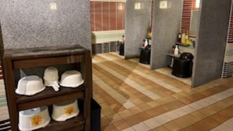 【女性】洗い場 (カラン:8か所)
