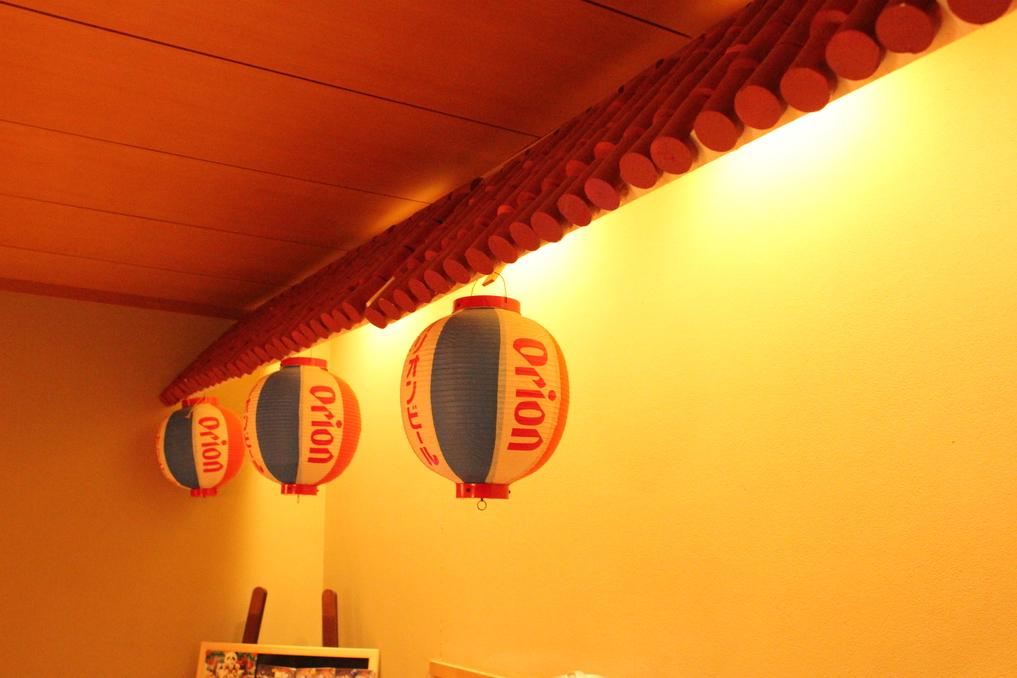 赤瓦屋根&オリオン提灯