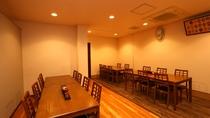 1Fフロント奥のお食事処です。他にも大小ご宴会場もございます。