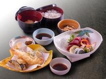 *【OAZO】天婦羅刺身定食(料理一例)