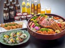 *パーリーナイトご夕食(料理一例)