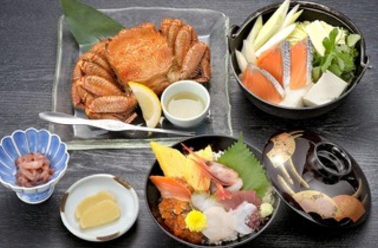 蟹付き海鮮丼プラン